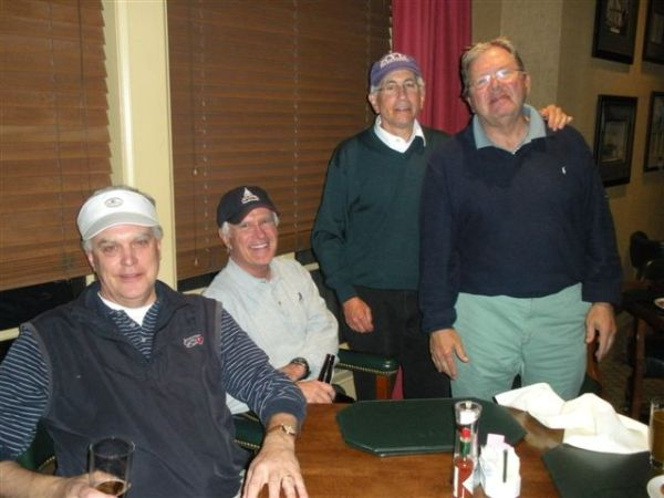 3-19-13 Winning Team: Kevin McGlynn, John Wymer, Jeff Kohn, Tom Player
