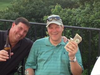 5-21-013 Low Net Winner Craig Sellner flashes the cash