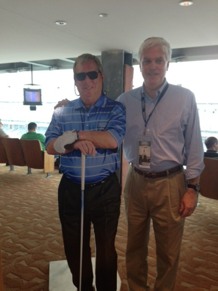 5-21-2013 Pro Golfer Fuzzy Zoeller and ATAGer Kevin McGlynn. Which one is real?