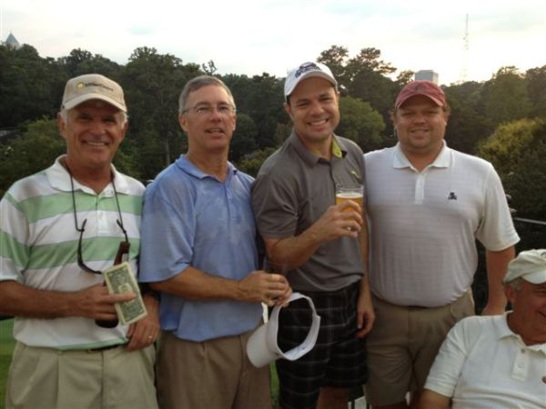 8-27-2013 Winning Team: John Wymer (low net), Doug Gooding, David Danzig, and Anthony Morgan