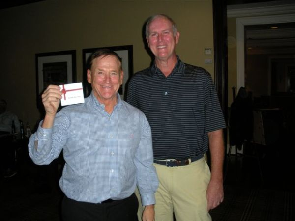 10-22-2013 End Of Year Party: Commissioner Don Nichols accepts Gift Card Award presented by Doug Healy on behalf of ATAG