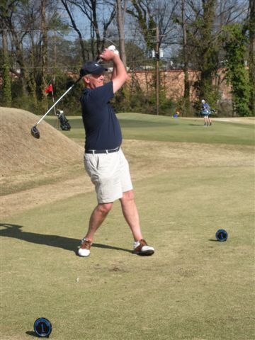 3-11-2014  Doug Healy has first tee shot of the season