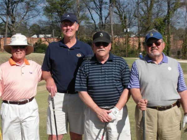 3-11-2014 First Team Off The Tee: Marty Arnold, Doug Healy, Tom Kisgen, Tom Player