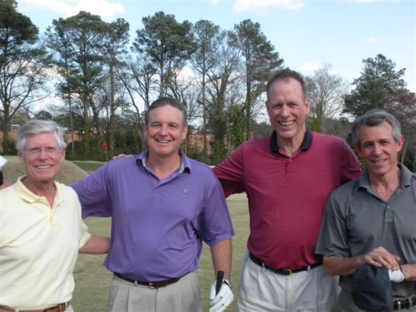 3-11-2014 Fourth Team Off The Tee: Bill Buist, Tom Houle, Scotty Greene, Brooks Cowles