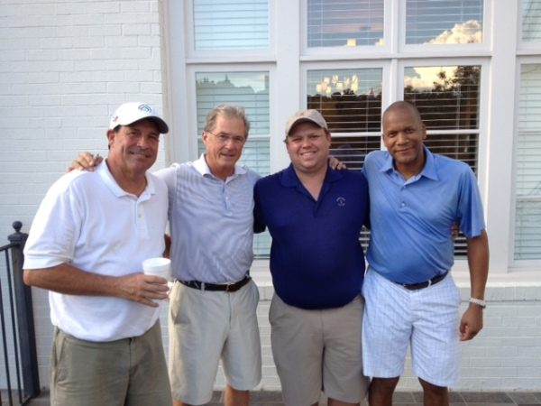 6-3-14 Winning Team: Lee Pearson, Russ Jobson, Anthony Morgan, and lucky draw partner William Thornton