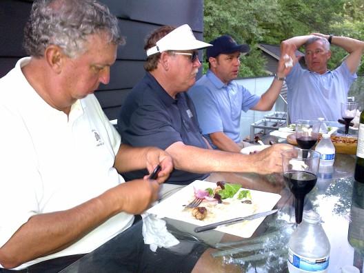 6-24-14 Steak Night: Danny Morris, Tom Kisgen, David Danzig, Doug Gooding