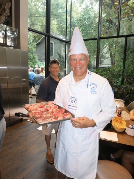 6-24-14 Steak Night: Co-Chef Craig Sellner with Commissioner Don Nichols in background