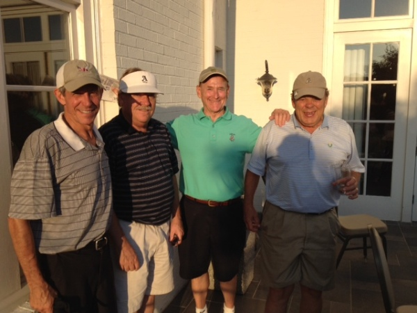 7-29-14 Winning Team: Brooks Cowles, Tom Kisgen, Don Nichols, Henry Sawyer