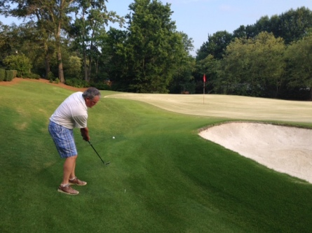 7-8-14 Low Net Chip Off: Tim Martin flubs his attempt