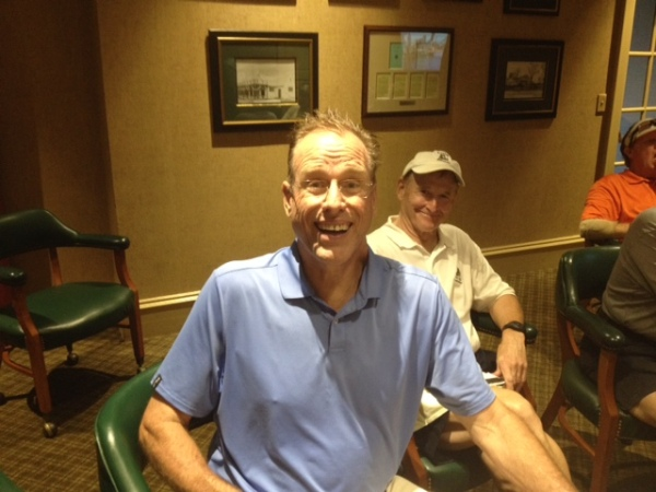 8-19-14 Scotty Green wins his first Pink Lady while the Commish smiles in amusement