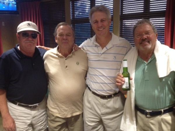 8-19-15 Winning Team: Tom Kisgen, Henry Sawyer, Mike Schmal, Tom Player