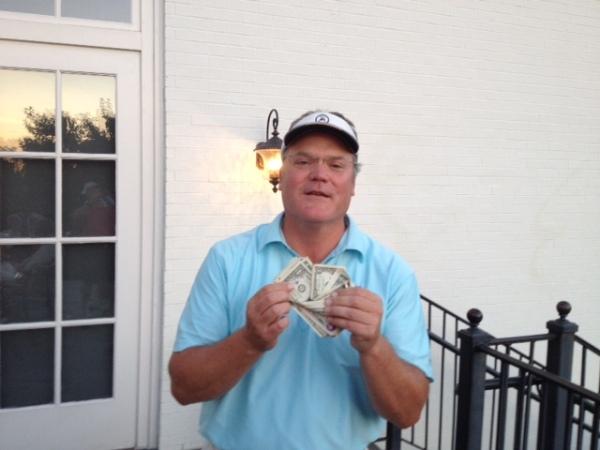 8-26-14 Low Net Winner Tim Martin