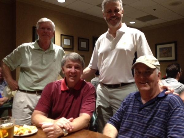 4-14-15 Winning Team: Bill Buist, Jim Williamson, Mike Schmal, Frank Corrigan