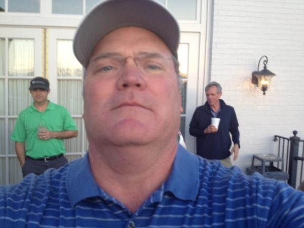 4-21-15 Pink Lady Winner Tim Martin (selfie) Appears to have a little devil on his left shoulder