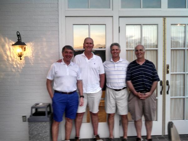 5-19-15 Winning Team: Jim Williamson, Doug Healy, Mike Schmal (Low Net Winner), and Frank Corrigan (Draw Partner)