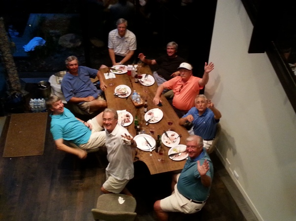 6-23-15 Steak Night; A table full of ATAGers