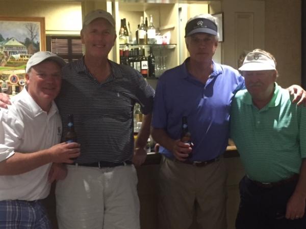 6-16-16 Winning Team: Tim Martin, Doug Healy, Kevin McGlynn, Tom Kisgen