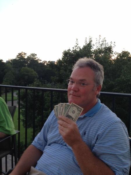 9-1-15 Low Net Winner Tim Martin