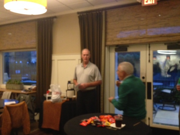 10-27-15 Closing Ceremony: Jeff Kohn Offers Candy while Doug Healy looks on