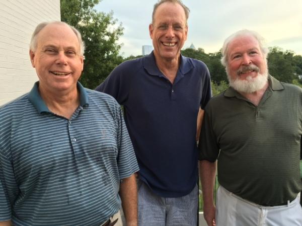 8-16-16 Winning Team: Tom Thornhill, Scotty Greene, Ed McCormack (not pictured: visitor Greg Berkey)